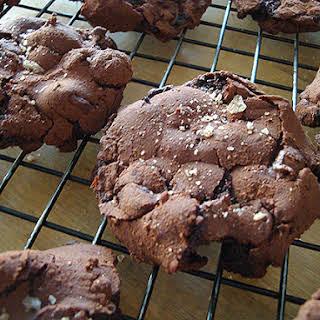 Flourless Double Chocolate Fudge Cookies.