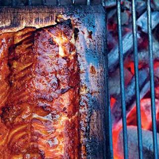 Cedar Plank-Grilled Salmon.