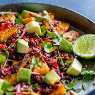 Mexican Black Rice and Pumpkin Salad #SundaySupper.