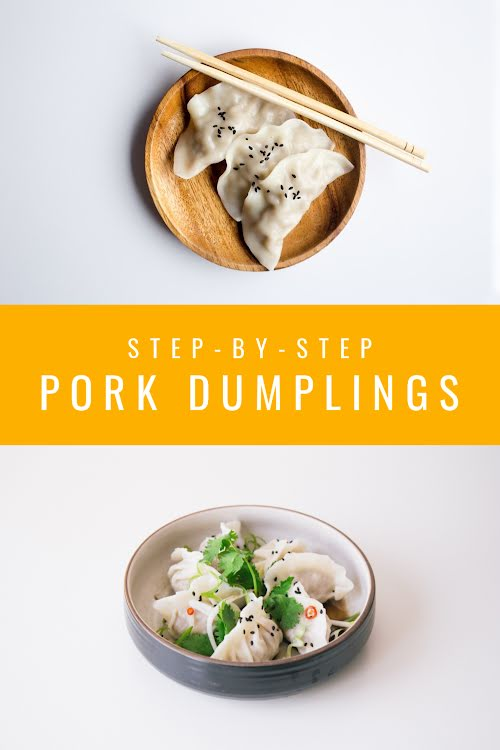 Pork Dumplings - Pinterest Pin Template