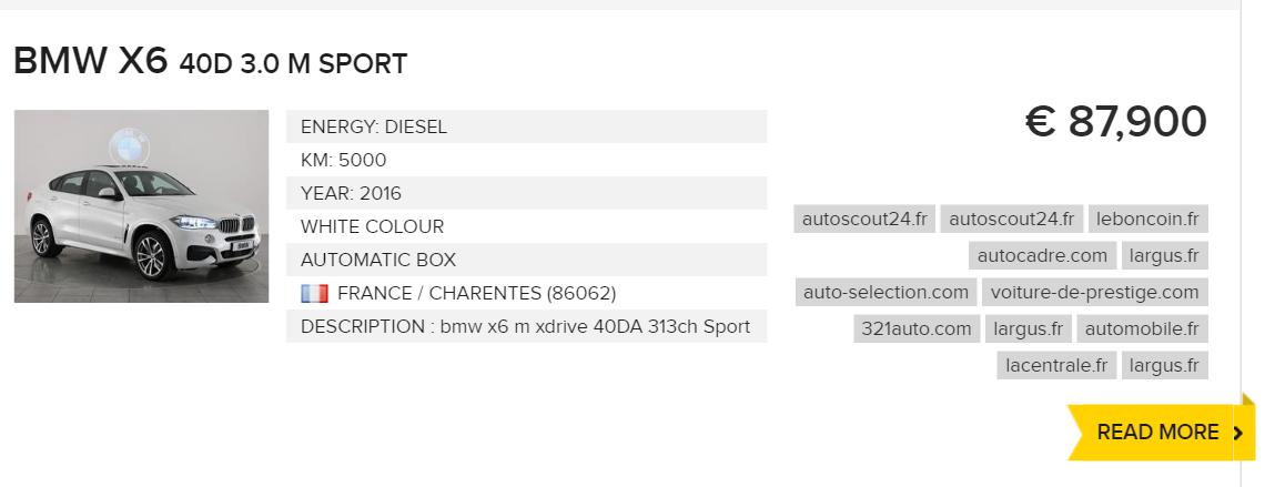 BMW X6 ! - www.leparking.fr
