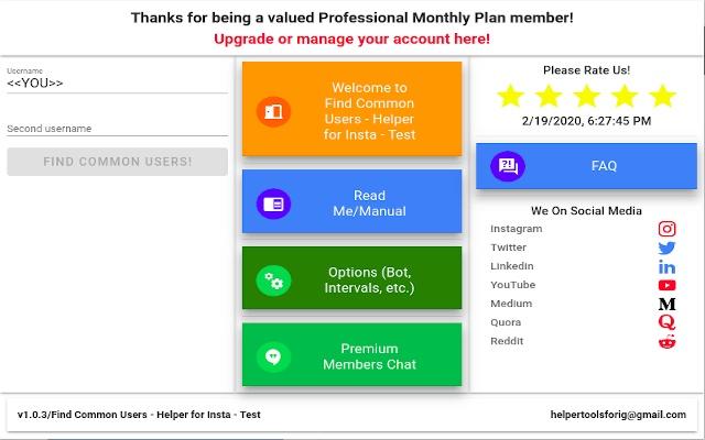 Find Common Users - Helper Tools 4 Instagram