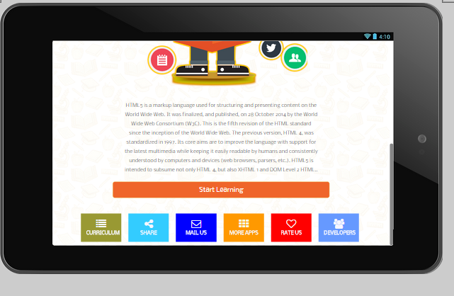 Offline Learn Html5 & Editor- screenshot