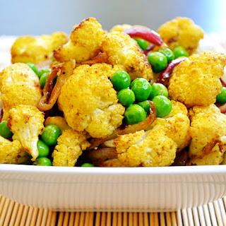 Vegan Curry Roasted Cauliflower