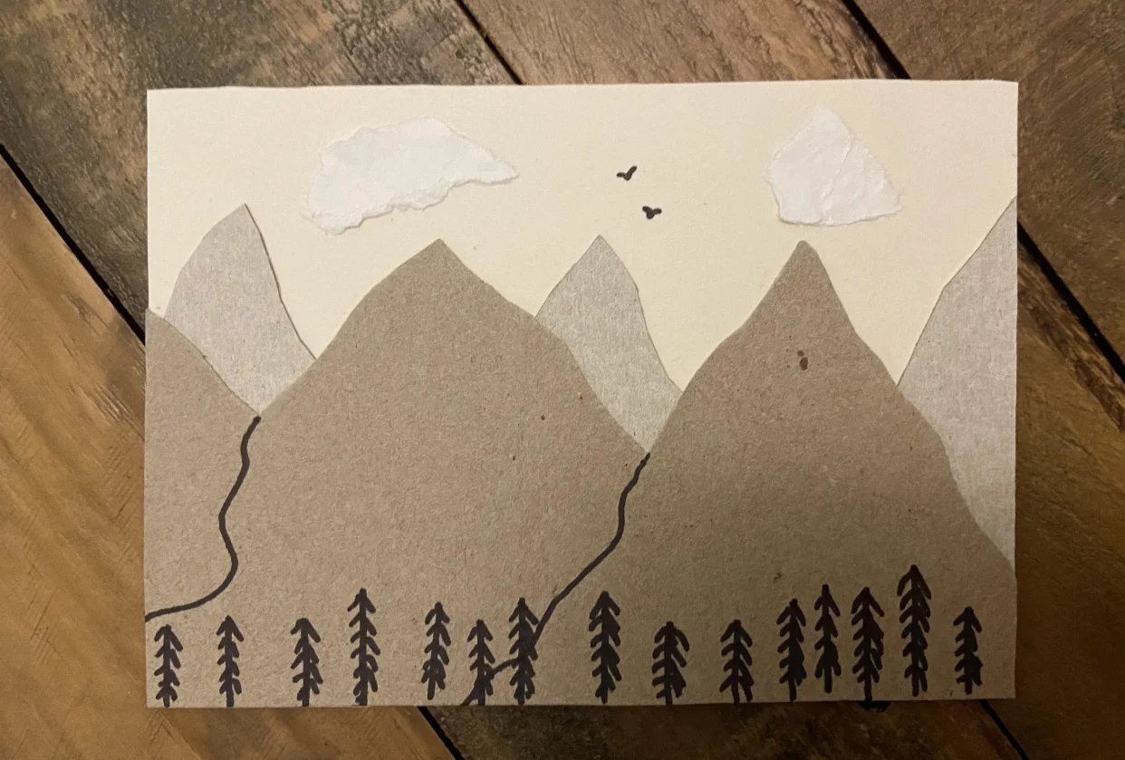 collage mountains