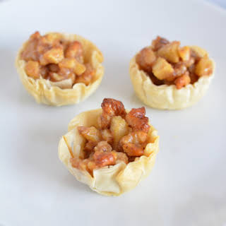 Mini Walnut Apple Tarts.