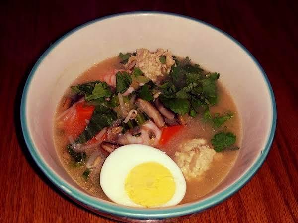 Sumo Stew, W  Shrimp, Veggies, & Chicken Meatballs Recipe