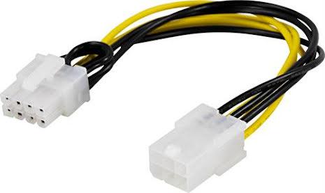 DELTACO adapterkabel, 6-pin PCI-Express till 8-pin PCI-Express