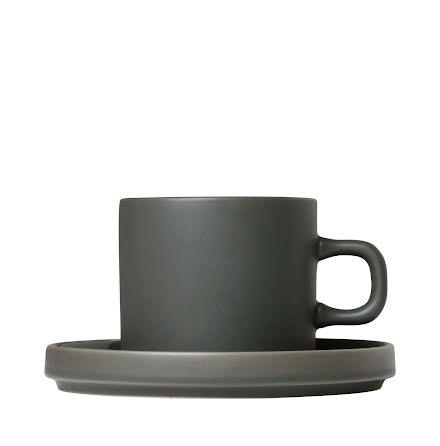 PILAR,Set med 2 kaffemuggar & fat, 4 delar, Agave Green