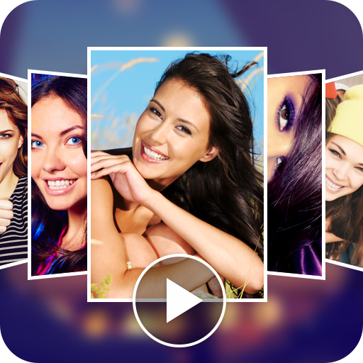 Photo video maker app with song