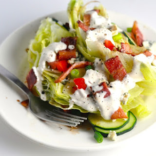 Wedge Salad with Homemade Blue Cheese Dressing - Low Carb, Keto, GF
