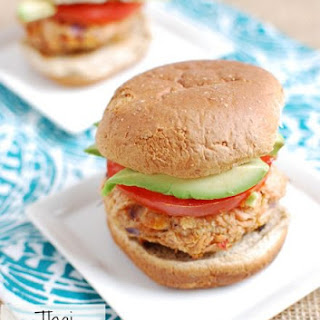 {Refreshed} Thai Peanut Salmon Burgers