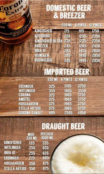 Lord of the Drinks Meadow menu 10
