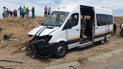 A minibus taxi and two cars collided at a busy intersection in Diepsloot, Johannesburg, on December 6 2018.