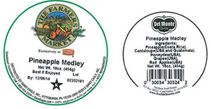Label, The Farmers Market Pineapple Medley, 16 oz.