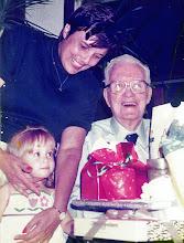 Photo: Carol and Amber help Dad celebrate his 91st birthday.
