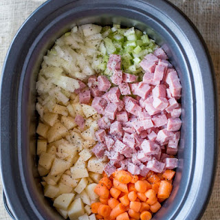 Slow Cooker Ham Potato Soup Recipes.