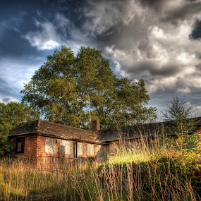 by Jade Newman - Buildings & Architecture Public & Historical ( sky, hdr, mental asylum, abandoned )