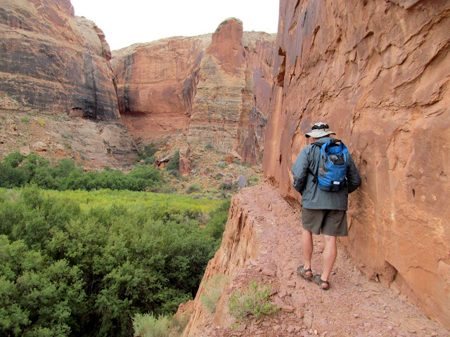 Paul on the ledge above Three Canyon