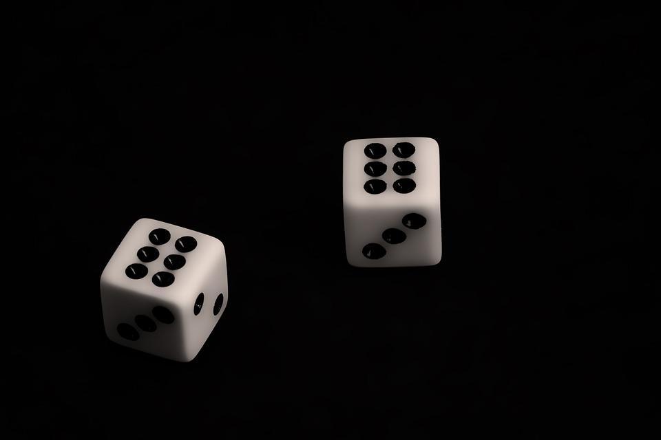 Dados, Juegos De Azar, Negro, Oportunidad, Riesgo