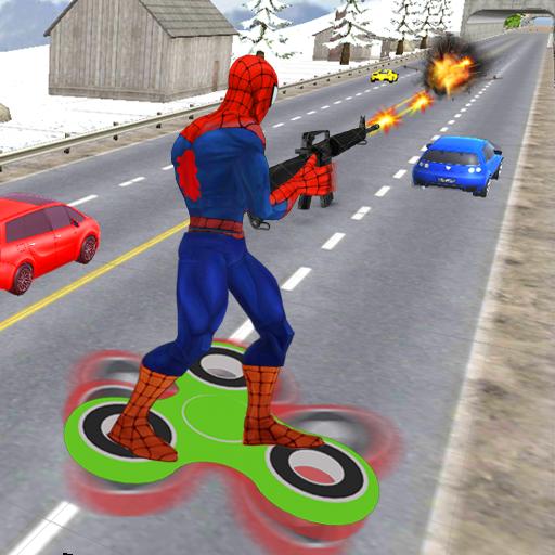 Superhero Fidget Spinner 3d
