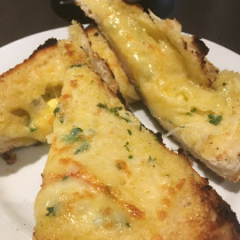 Cheese Toasty Yum! by Dawn Simpson - Food & Drink Plated Food ( dining out, fast food, dairy, toasty, take away, cheese )