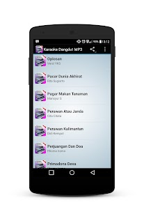 Dangdut Karaoke MP3 Screenshot