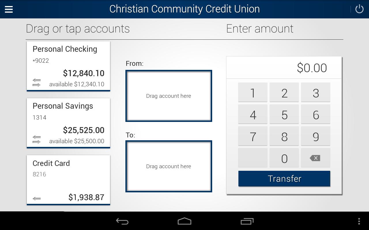 myCCCU Mobile Banking - screenshot