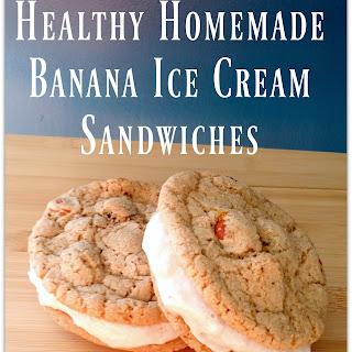 Healthy Homemade Banana Ice Cream Sandwiches.