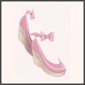 水玉サンダル(ピンク)