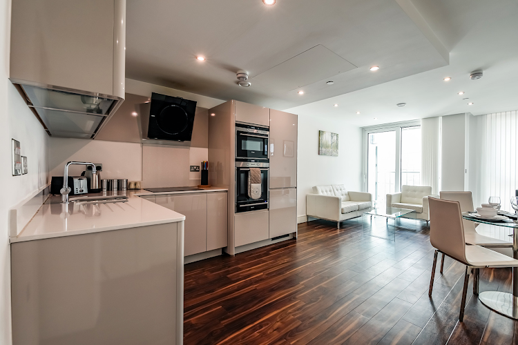 Luxury kitchen at Altitude Point Balcony Apartment