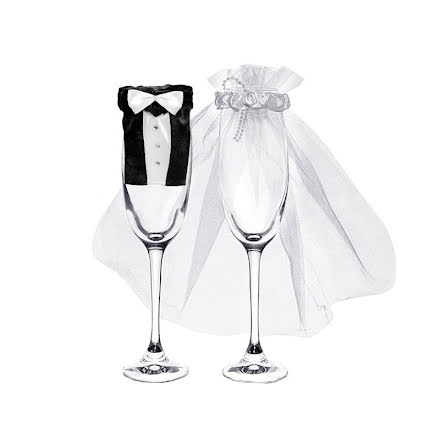 Bröllopskläder till glas