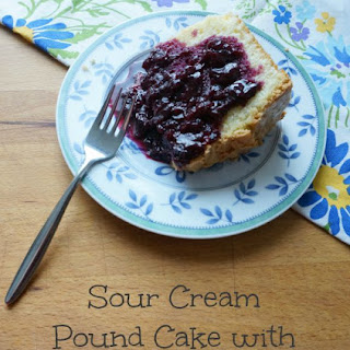 Sour Cream Pound Cake with Cherry Compote