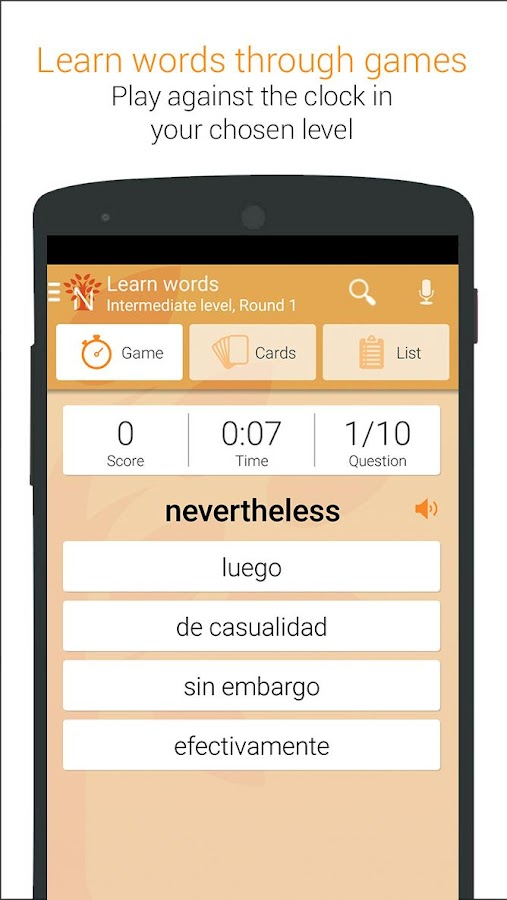 learn | translate English to Spanish: Cambridge Dictionary