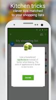 Screenshot of Shopping list - Listonic