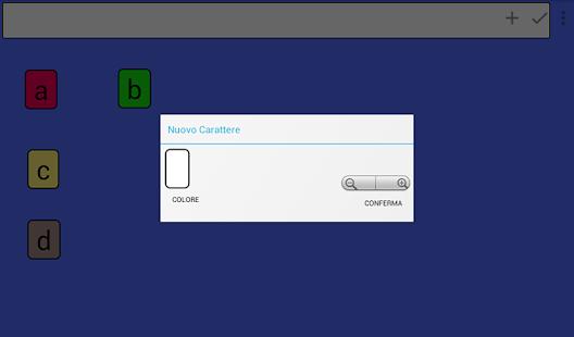 AlboBoard -Tastiera per la letto-scrittura BES DSA Screenshot