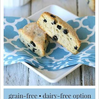 Almond Flour Blueberry Lemon Scones {Grain-Free, Dairy-Free Option}.