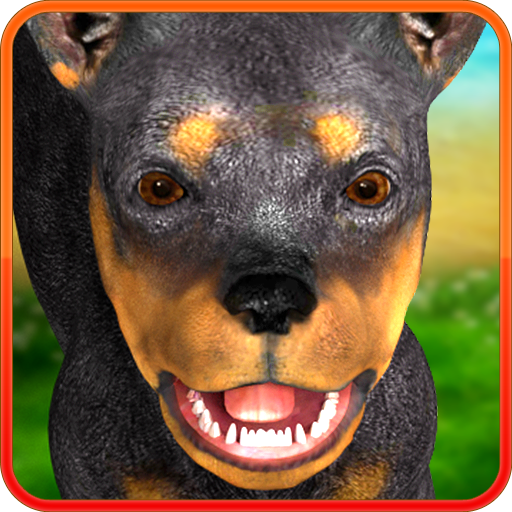 Animated dog doberman Icon