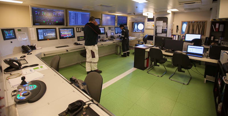 Inside the Engine Room on Viking Star.