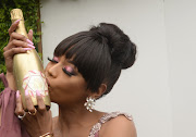 Bonang Matheba, pictured here during the launch of her luxury beverage brand, House of BNG, says her bubblies are her