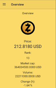 ZEC Ticker- screenshot thumbnail
