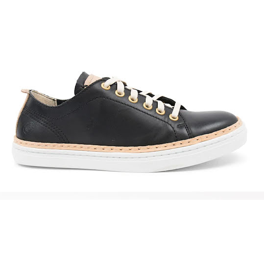 Sneaky Steve Silvermine Low Leather Dam Black Stl: 38