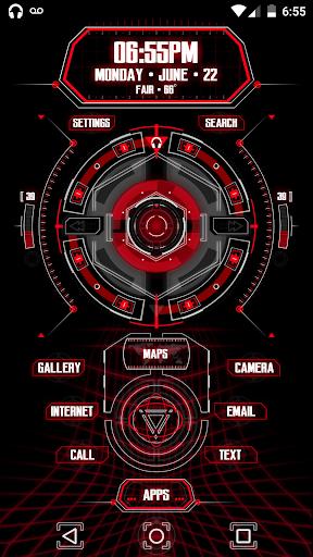 CMX - HUD X  · KLWP Theme screenshot