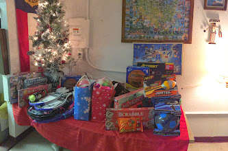 Photo: Some of the toy donations collected by the Chapter