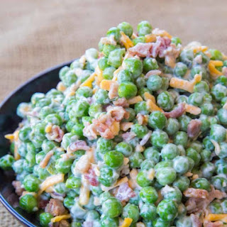 Creamy Bacon Pea Salad.
