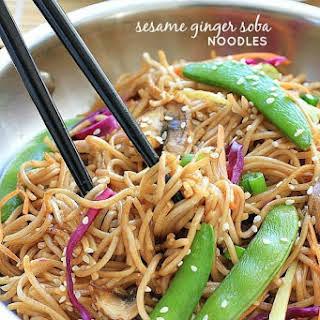 Sesame Ginger Soba Noodles.