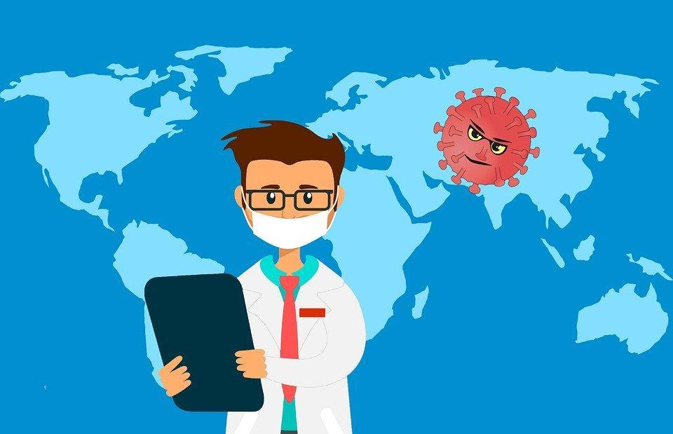 Virus, Corona, World, Map, Alert, Attention, Doctor
