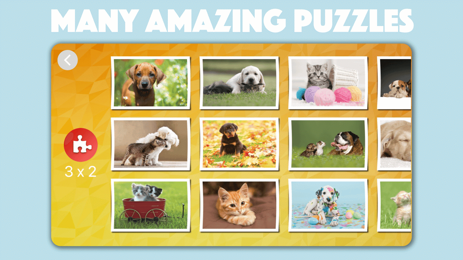 Cats & Dogs Jigsaw Puzzles for kids & toddlers- screenshot