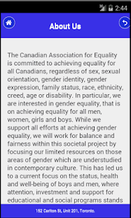 Canadian Assoc. for Equality- screenshot thumbnail