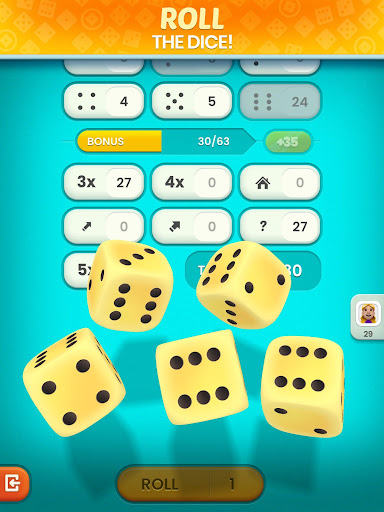 Golden Roll: The Yatzy Dice Game modavailable screenshots 11